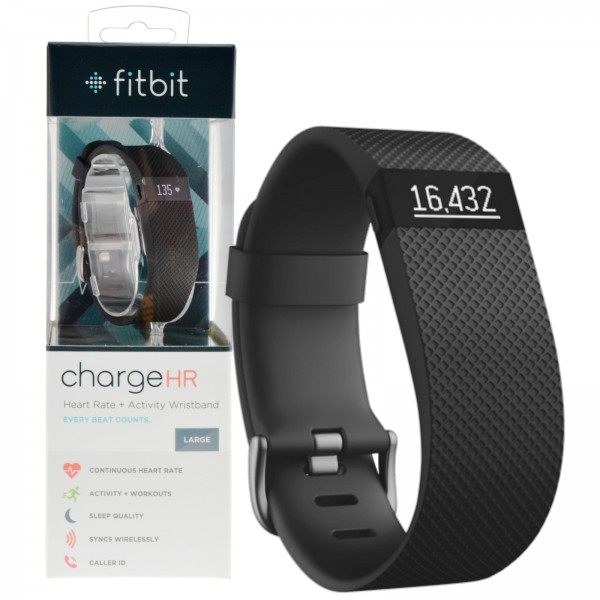 Fitbit Charge HR Size Large Heart Rate & Activity Tracker ...