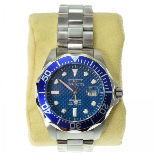 invicta men 039 s 12563 pro diver blue carbon fiber dial invicta men s 12563 pro diver blue carbon fiber dial quartz movement stainless steel bracelet blue bezel watch