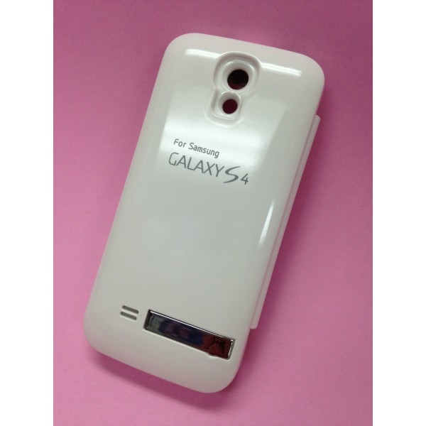 low priced b6486 ade8b Details about 3800mAh Backup Battery S View Flip Cover Case for Samsung  Galaxy S4 i9500 White