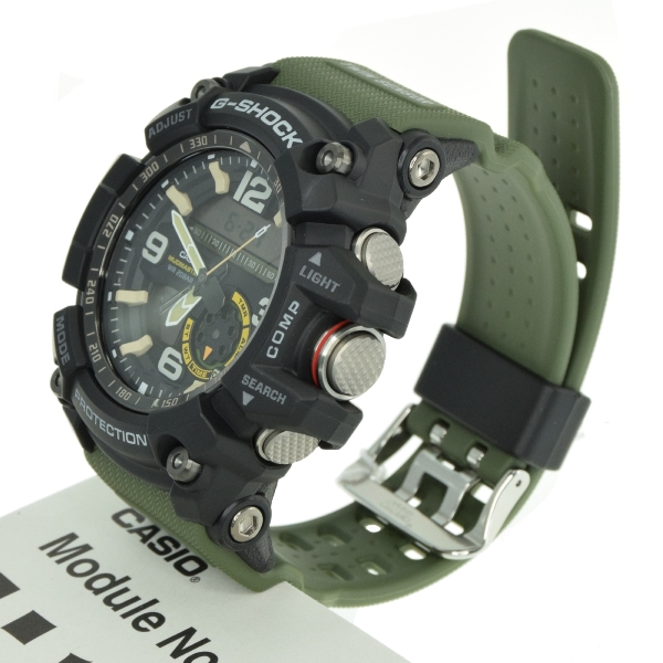 6b969e91f42 Casio G-Shock GG-1000-1A3 DR Mudmaster Twin Sensor Ana-Digital Men s Watch  Green 4549526114717