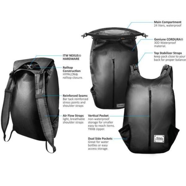 Matador FreeRain24 24 Liter Ultralight Waterproof Packable Backpack Genuine  CORDURA - Grey 39062dc401ea7