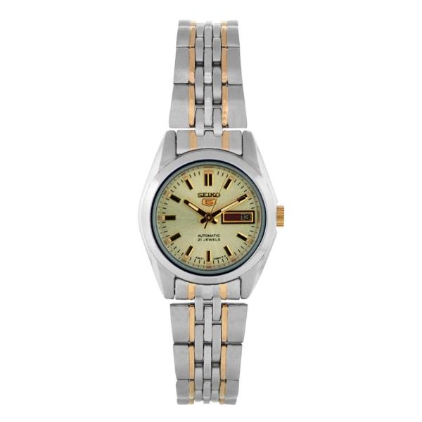 Seiko 5 Syma37 Syma37k1 Automatic Gold Dial Two Tone Stainless Steel Watch 4900969894527 Ebay