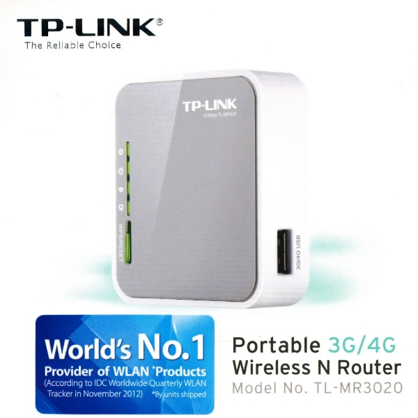 TP LINK TL MR3020 V3 Portable 3G 4G USB Modem Wireless N