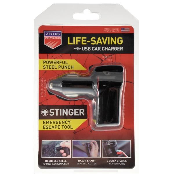 ztylus stinger usb emergency escape tool car charger window breaker belt cutter. Black Bedroom Furniture Sets. Home Design Ideas