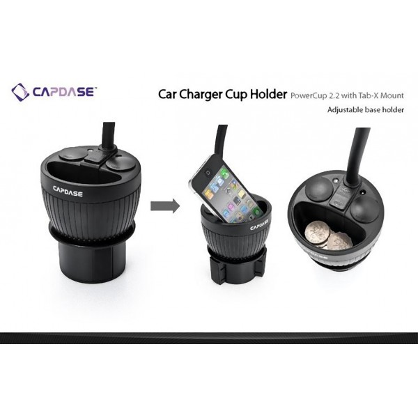 Capdase Car Charger Cup Holder Powercup