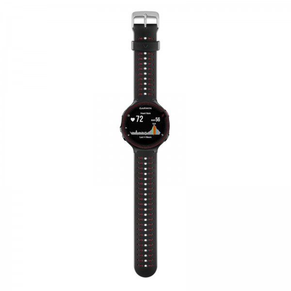 27ab8e261dd GARMIN FORERUNNER 235 GPS RUNNING WATCH WITH WRIST-BASED HRM MONITOR - BLACK    RED (Extra Black Color Silicone Band included)