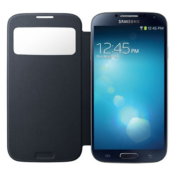 new product d0f57 e754e Details about Genuine Samsung EF-CI950BB S View Flip Cover Case for Galaxy  S4 S IV i9500 Black
