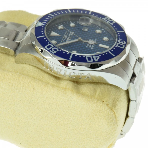 Invicta men 39 s 12563 pro diver blue carbon fiber dial stainless steel watch 689791668134 ebay for Men decagonal bezel bracelet