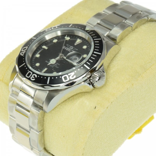 INVICTA Men s 9307 Pro Diver Collection Swiss Quartz Movement Black Dial  Stainless Steel Watch f3ac4acf2