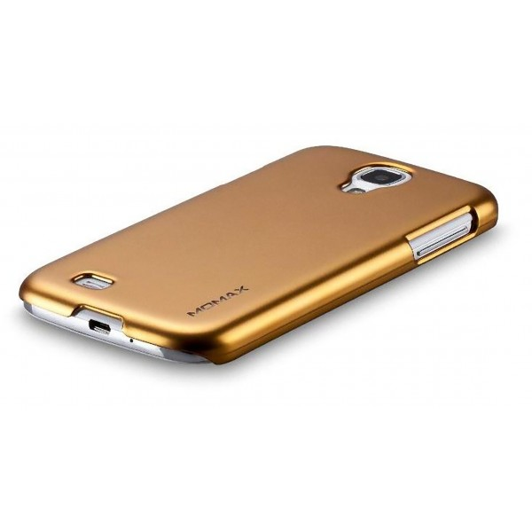 wholesale dealer 164f3 c9786 Details about Momax Thin Glossy Metallic Case + Protector for Samsung  Galaxy S4 i9500 Gold