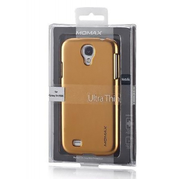 Protector for Samsung Galaxy S4 i9500 Gold Momax Thin Glossy Metallic Case