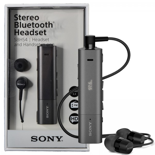 Details about Sony SBH54 NFC Stereo Bluetooth HD Voice Noise Cancellation  Headset FM Handset