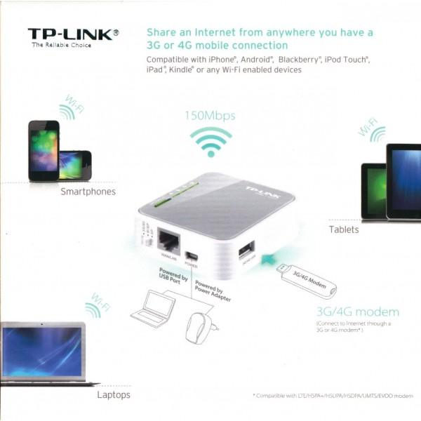 tp link tl mr3020 portable 3g 4g usb modem internet share. Black Bedroom Furniture Sets. Home Design Ideas